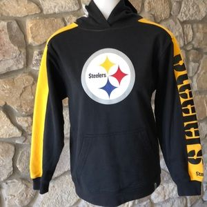 NFL Shirts   Tops - Youth Steelers hoodie with logo on hood 25a1cf3fc